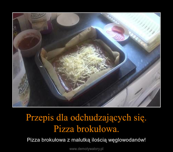 Przepis dla odchudzających się.Pizza brokułowa. – Pizza brokułowa z malutką ilością węglowodanów!