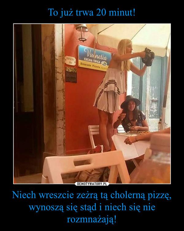Niech wreszcie zeżrą tą cholerną pizzę, wynoszą się stąd i niech się nie rozmnażają! –