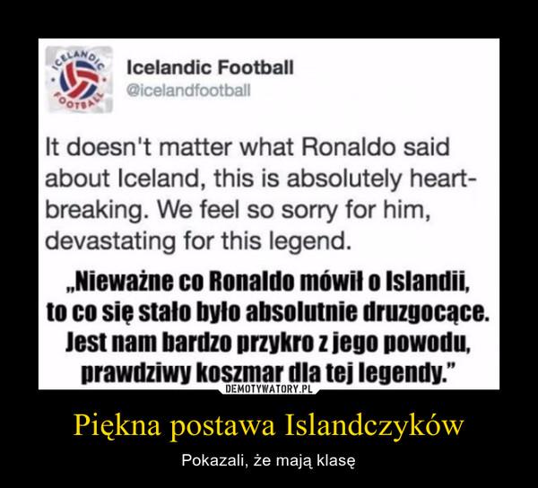 Piękna postawa Islandczyków – Pokazali, że mają klasę