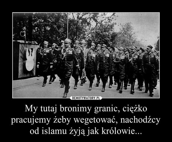 My tutaj bronimy granic, ciężko pracujemy żeby wegetować, nachodźcy od islamu żyją jak królowie... –