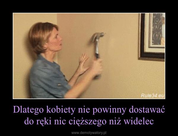 Dlatego kobiety nie powinny dostawać do ręki nic cięższego niż widelec –