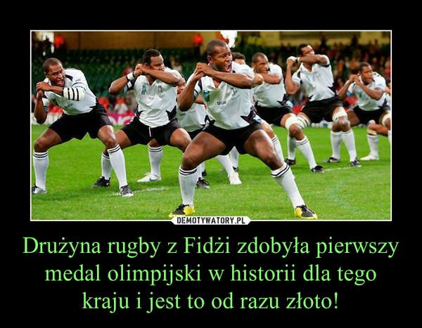 Drużyna rugby z Fidżi zdobyła pierwszy medal olimpijski w historii dla tego kraju i jest to od razu złoto! –