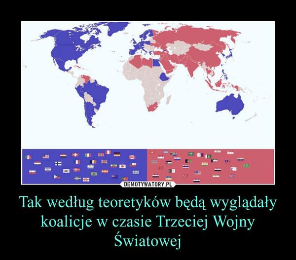 Tak według teoretyków będą wyglądały koalicje w czasie Trzeciej Wojny Światowej –