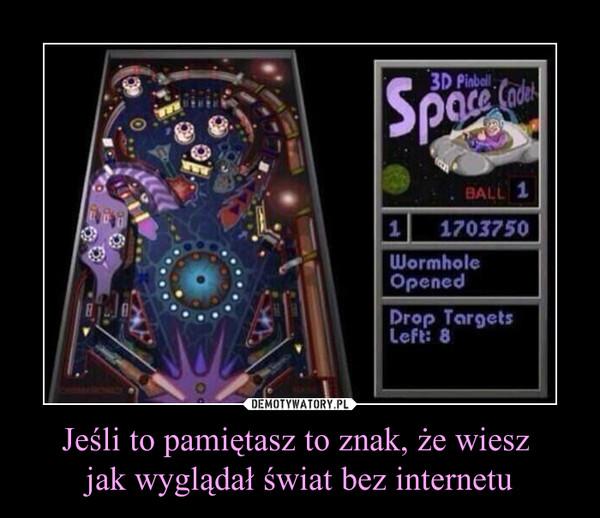Jeśli to pamiętasz to znak, że wiesz jak wyglądał świat bez internetu –