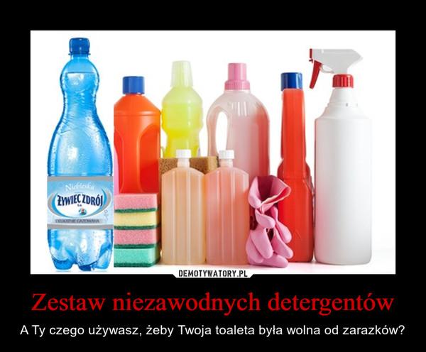 Zestaw niezawodnych detergentów – A Ty czego używasz, żeby Twoja toaleta była wolna od zarazków?