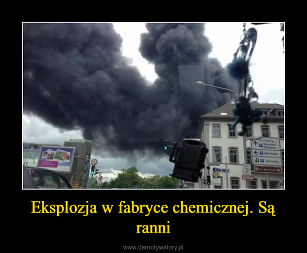 Eksplozja w fabryce chemicznej. Są ranni –