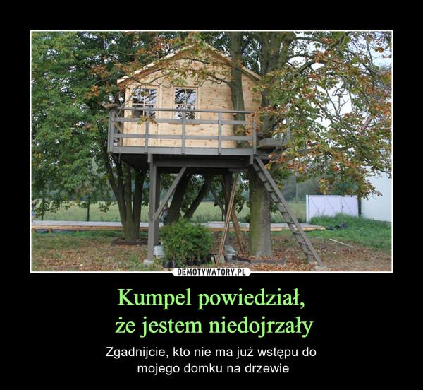 Kumpel powiedział, że jestem niedojrzały – Zgadnijcie, kto nie ma już wstępu do mojego domku na drzewie