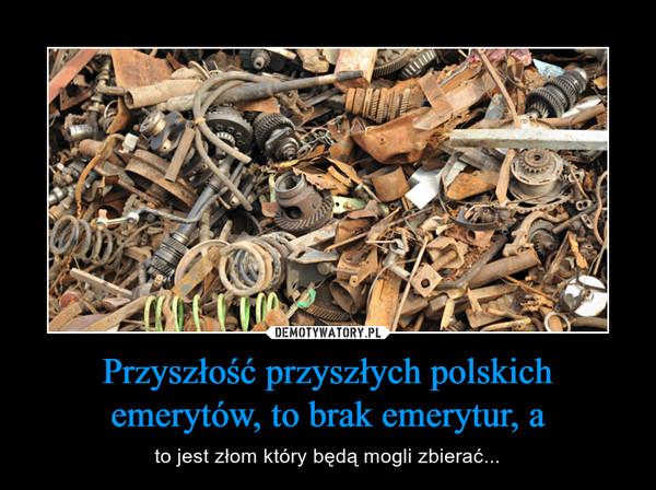 Przyszłość przyszłych polskich emerytów, to brak emerytur, a – to jest złom który będą mogli zbierać...