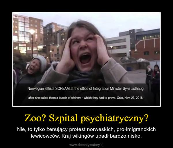 Zoo? Szpital psychiatryczny? – Nie, to tylko żenujący protest norweskich, pro-imigranckich lewicowców. Kraj wikingów upadł bardzo nisko.