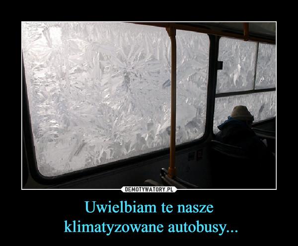 Uwielbiam te nasze klimatyzowane autobusy... –