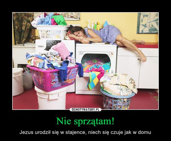 Nie sprzątam! – Jezus urodził się w stajence, niech się czuje jak w domu