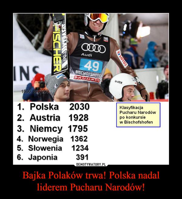 Bajka Polaków trwa! Polska nadal liderem Pucharu Narodów! –  1. Polska 20302. Austria 19283. Niemcy 17954. Norwegia 13625. Słowenia 12346. Japonia 391