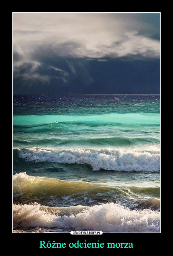 Różne odcienie morza –