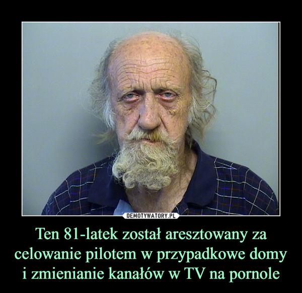 Ten 81-latek został aresztowany za celowanie pilotem w przypadkowe domy i zmienianie kanałów w TV na pornole –