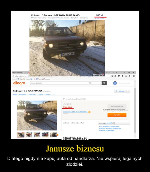 Janusze biznesu – Dlatego nigdy nie kupuj auta od handlarza. Nie wspieraj legalnych złodziei.