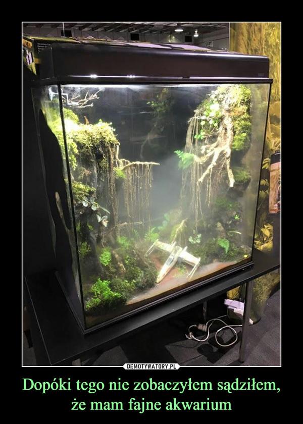 Dopóki tego nie zobaczyłem sądziłem, że mam fajne akwarium –