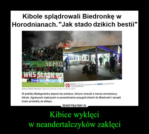 """Kibice wyklęciw neandertalczyków zaklęci –  Kibole splądrowali Biedronkę w Horodnianach. """"Jak stado dzikich bestii""""W pobliżu Białegostoku zepsuł się autobus, którym wracali z meczu wrocławscy kibole. Agresywni mężczyźni w poszukiwaniu przygód dotarli do Biedronki i zaczęli kraść produkty ze sklepu."""