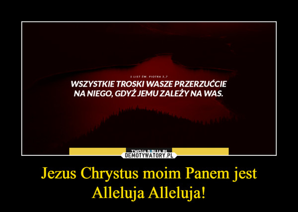 Jezus Chrystus moim Panem jest Alleluja Alleluja! –