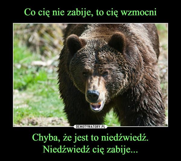 Chyba, że jest to niedźwiedź.Niedźwiedź cię zabije... –