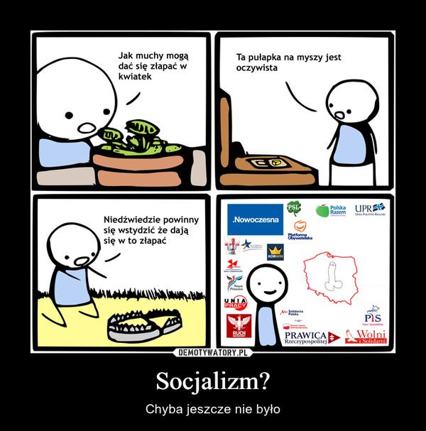 Socjalizm? – Chyba jeszcze nie było