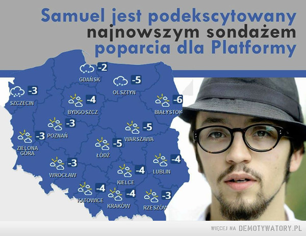 Sondaż Pereiry –  Samuel jest podekscytowany najnowszym sondażem poparcia dla Platofrmy