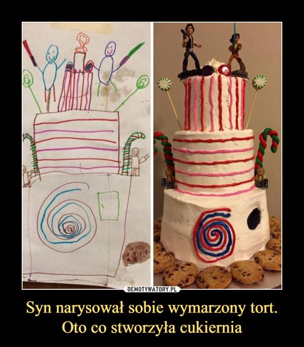 Syn narysował sobie wymarzony tort. Oto co stworzyła cukiernia –