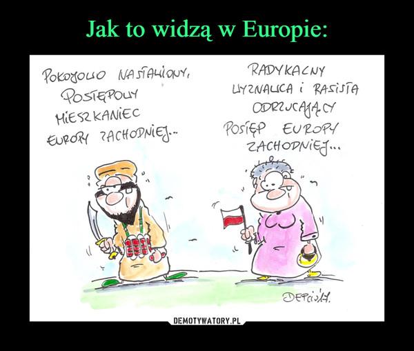 –  Pokojowo nastawiony mieszkaniec Europy Zachodniej Radykalny rasista i wyznawca odrzucający postęp Europy Zachodniej