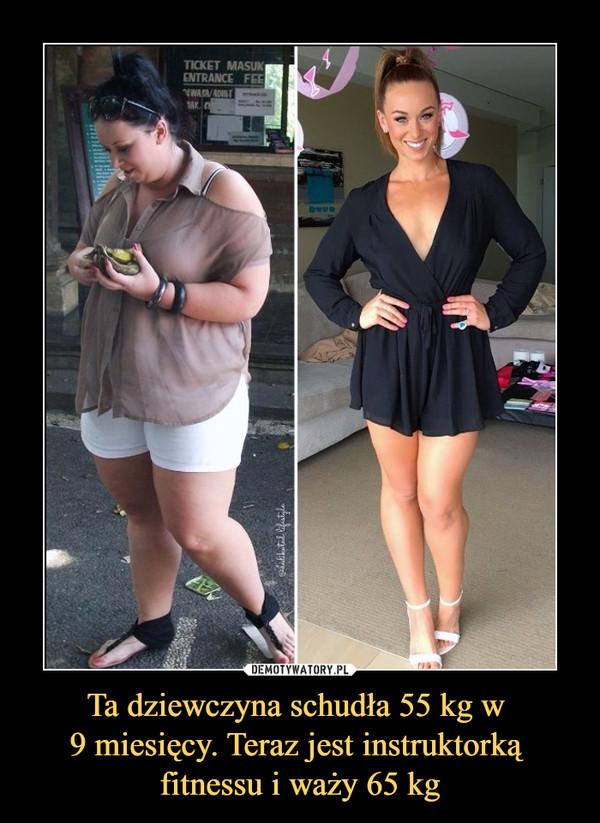Ta dziewczyna schudła 55 kg w 9 miesięcy. Teraz jest instruktorką fitnessu i waży 65 kg –