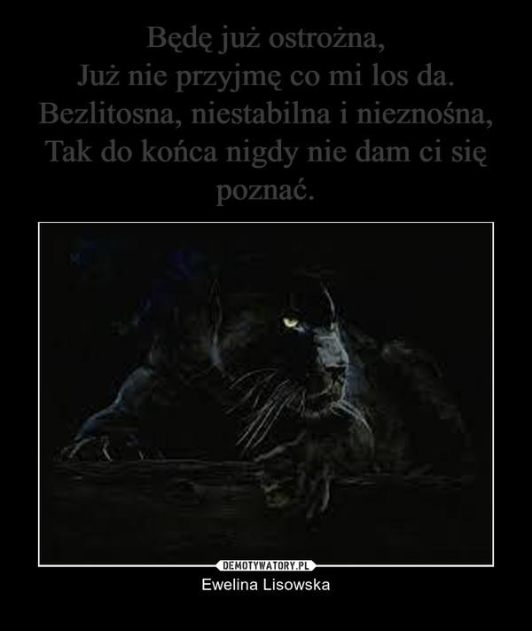 – Ewelina Lisowska