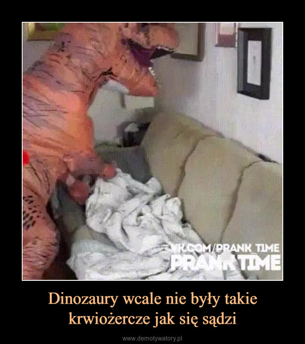 Dinozaury wcale nie były takie krwiożercze jak się sądzi –