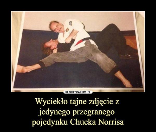 Wyciekło tajne zdjęcie z jedynego przegranego pojedynku Chucka Norrisa –