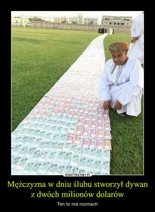 Mężczyzna w dniu ślubu stworzył dywan z dwóch milionów dolarów – Ten to ma rozmach