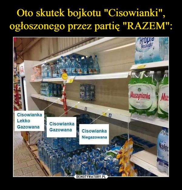 –  Cisowianka Lekko GazowanaCisowianka GazowanaCisowianka Niegazowana