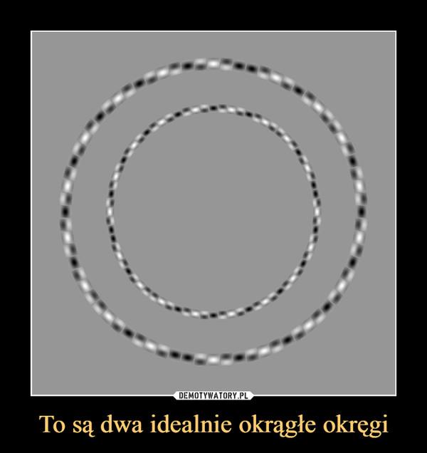 To są dwa idealnie okrągłe okręgi –