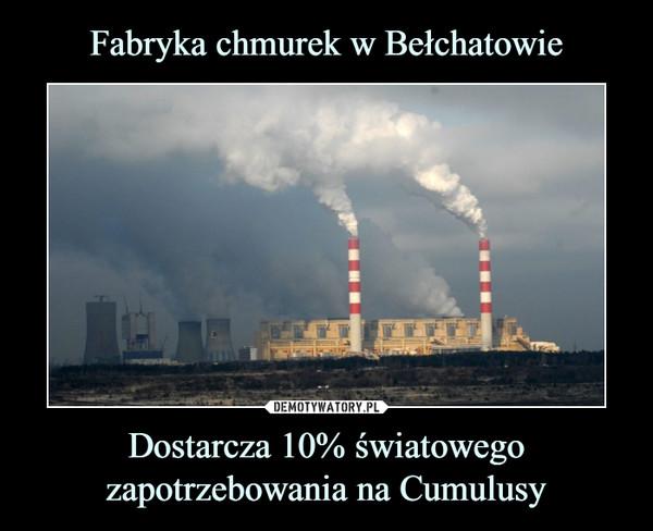 Dostarcza 10% światowego zapotrzebowania na Cumulusy –