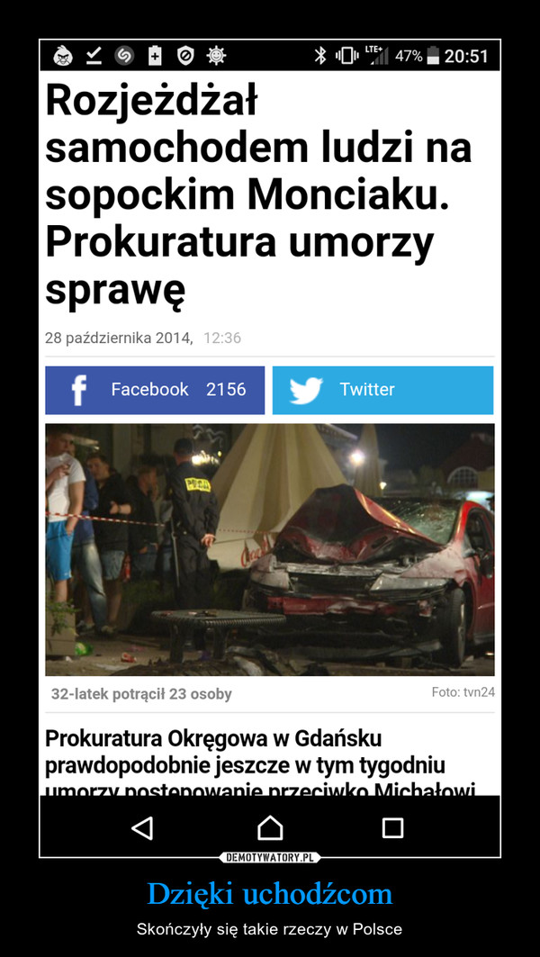 Dzięki uchodźcom – Skończyły się takie rzeczy w Polsce