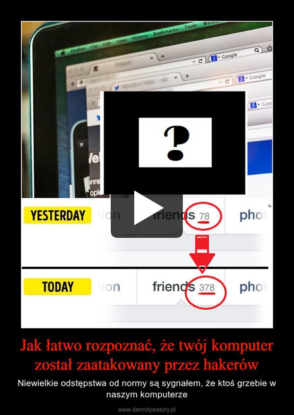 Jak łatwo rozpoznać, że twój komputer został zaatakowany przez hakerów – Niewielkie odstępstwa od normy są sygnałem, że ktoś grzebie w naszym komputerze