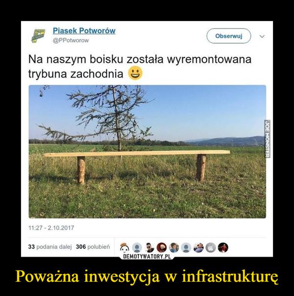 Poważna inwestycja w infrastrukturę –  Na naszym boisku została wyremontowana trybuna zachodnia