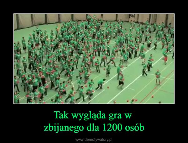 Tak wygląda gra w zbijanego dla 1200 osób –