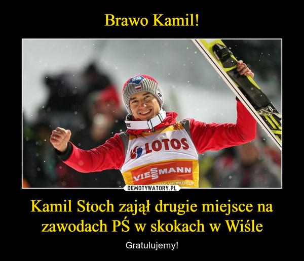 Kamil Stoch zajął drugie miejsce na zawodach PŚ w skokach w Wiśle – Gratulujemy!