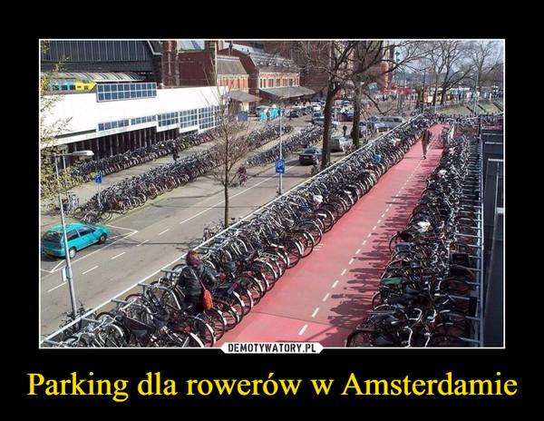 Parking dla rowerów w Amsterdamie –