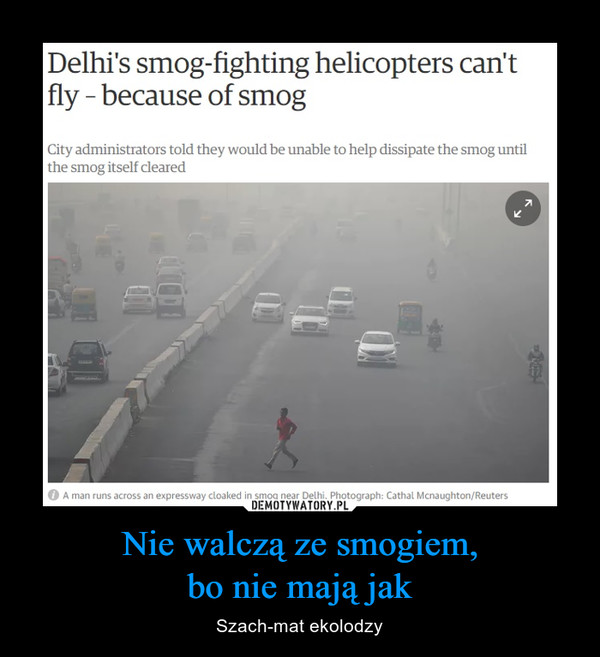 Nie walczą ze smogiem,bo nie mają jak – Szach-mat ekolodzy