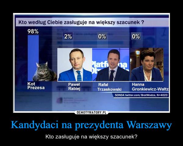 Kandydaci na prezydenta Warszawy – Kto zasługuje na większy szacunek?