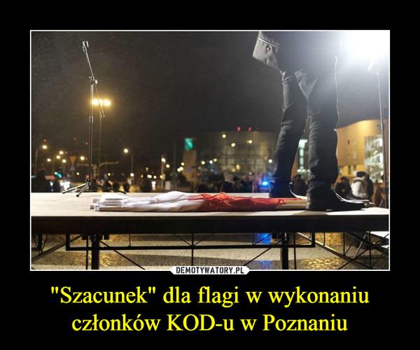 """""""Szacunek"""" dla flagi w wykonaniu członków KOD-u w Poznaniu –"""