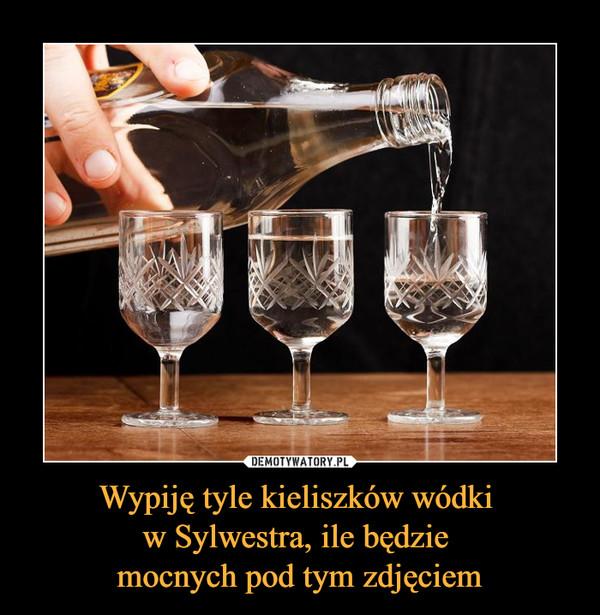 Wypiję tyle kieliszków wódki w Sylwestra, ile będzie mocnych pod tym zdjęciem –
