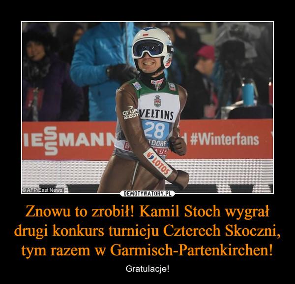 Znowu to zrobił! Kamil Stoch wygrał drugi konkurs turnieju Czterech Skoczni, tym razem w Garmisch-Partenkirchen! – Gratulacje!