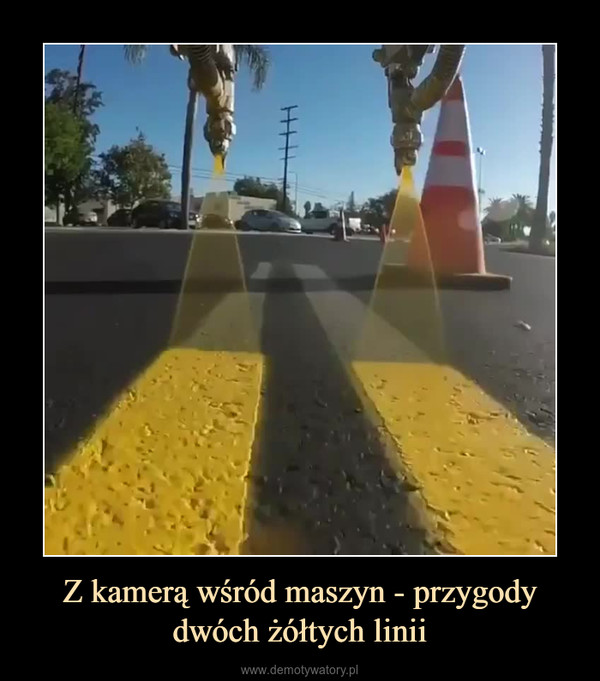Z kamerą wśród maszyn - przygody dwóch żółtych linii –