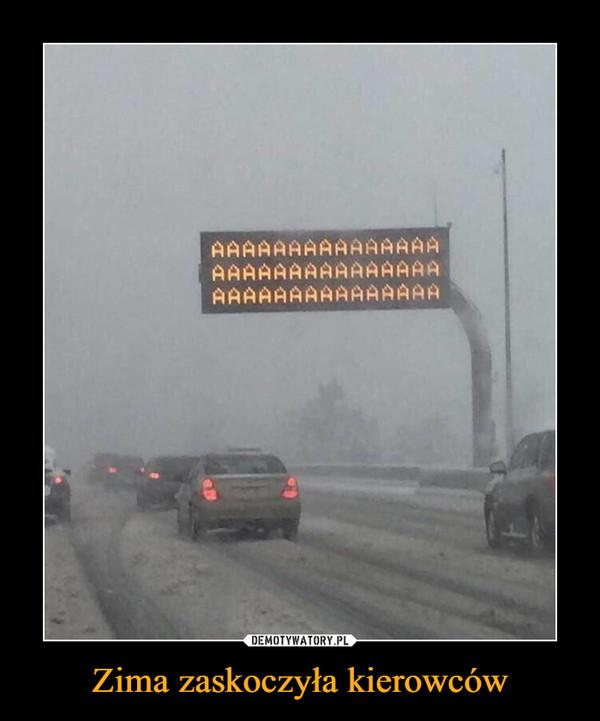 Zima zaskoczyła kierowców –
