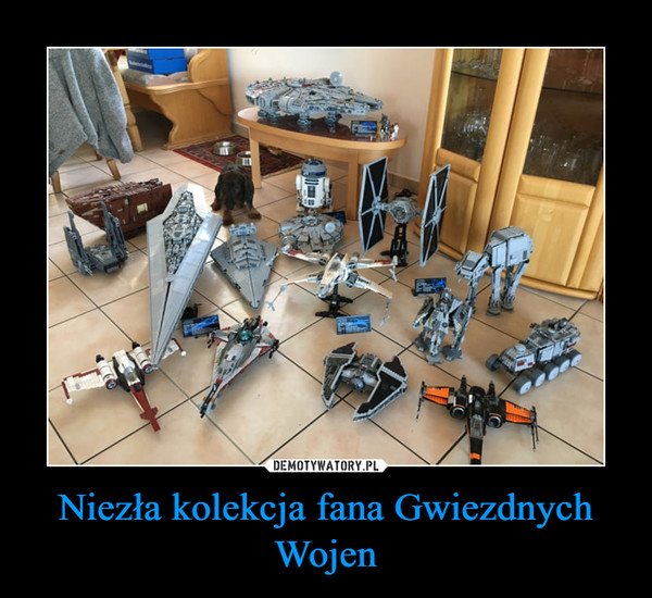 Niezła kolekcja fana Gwiezdnych Wojen –