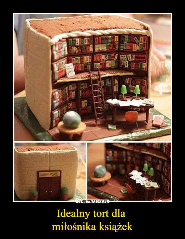 Idealny tort dla miłośnika książek –